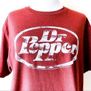 Dr. Pepper Soda Drink T-Shirt Tee Luv Large Red